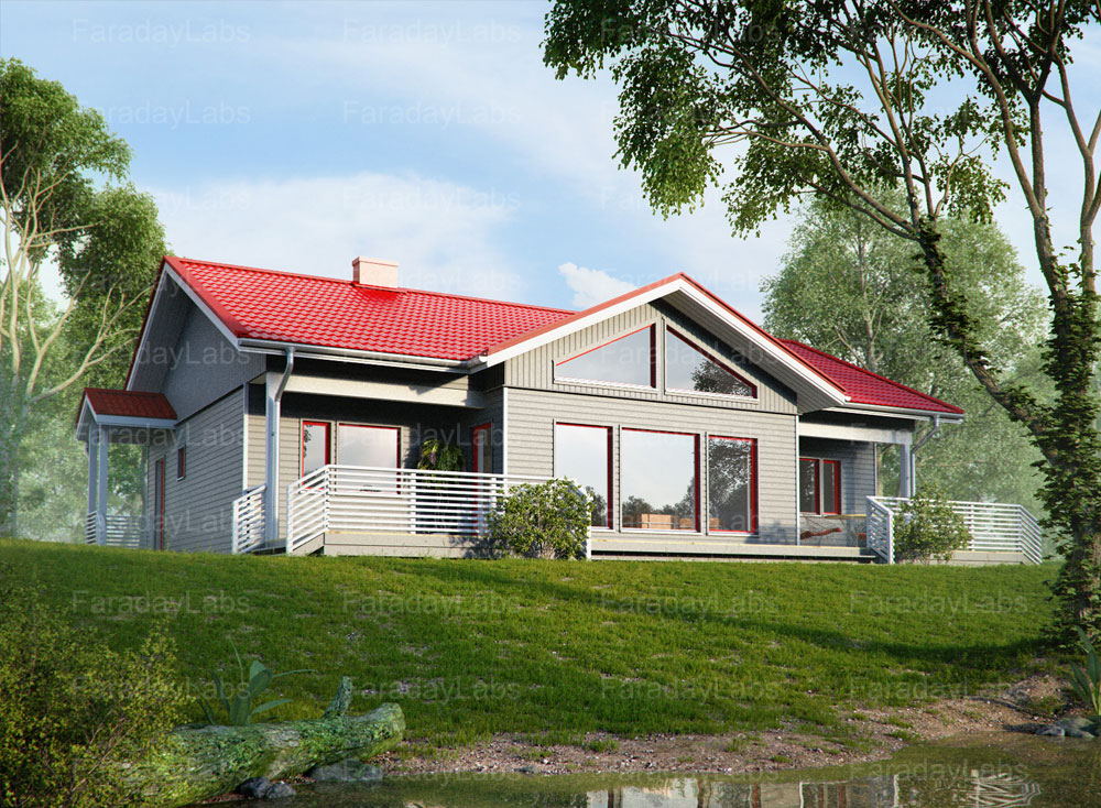 Faraday 3D family private house visualizations