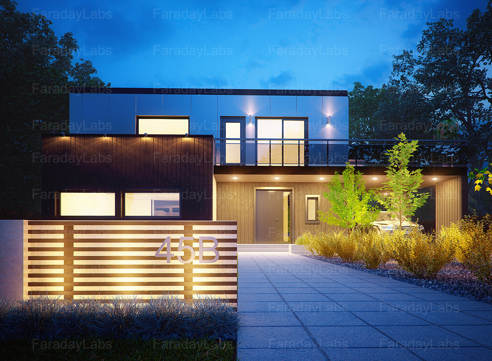Architectural 3d visualisation funky style 3d drawing for 3d house drawing