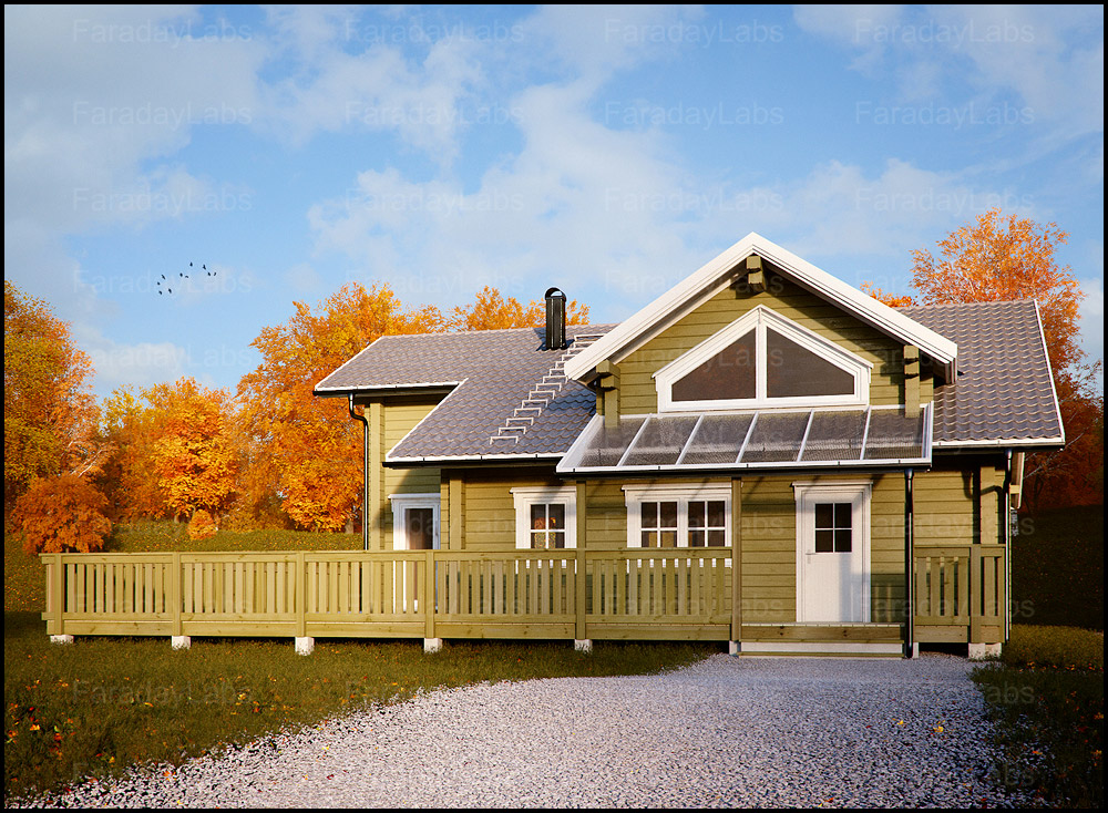 Exterior: Exterior House Rendering Of Private House