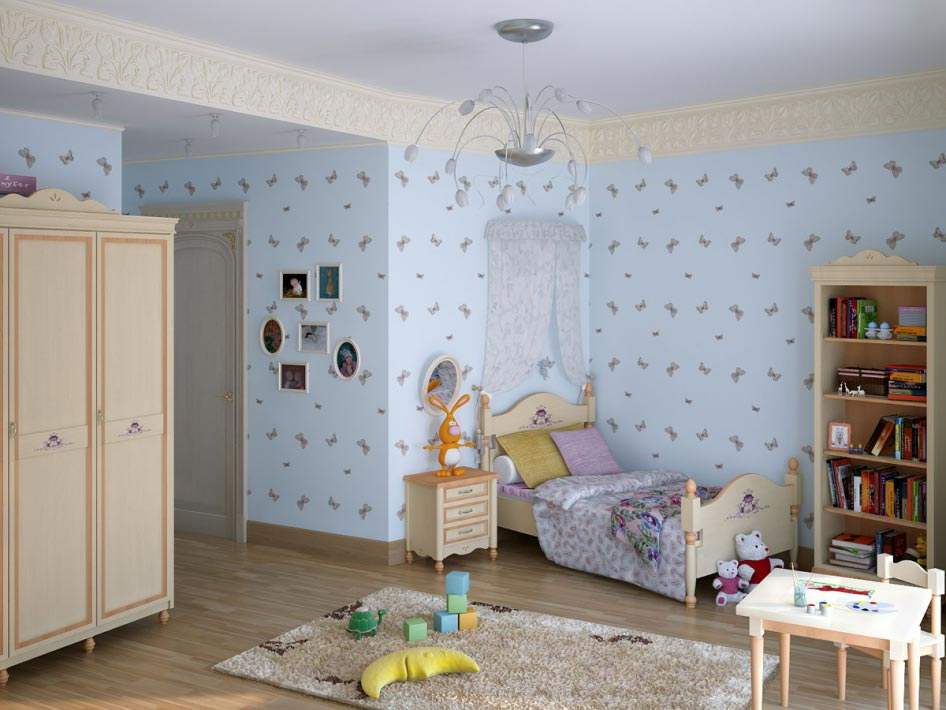 Kids room Bathroom 3D Interior renderings