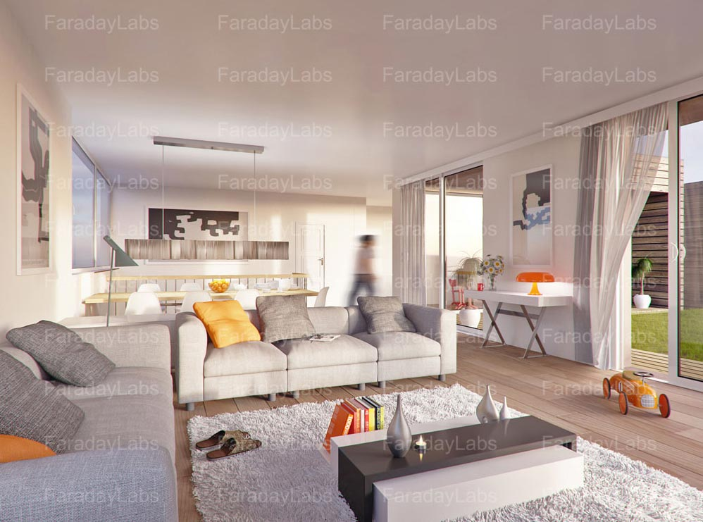 3D Interior renderings by Faraday 3D