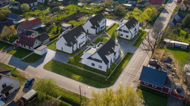 residential area in 3D