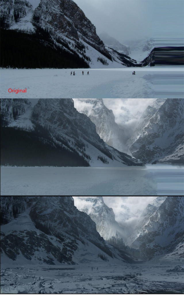 Matte painting example in movie