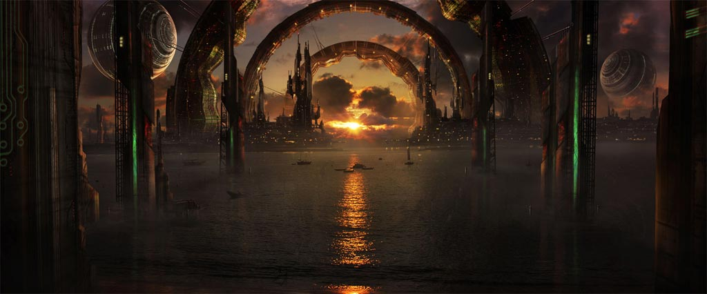 Matte painting example in digital art