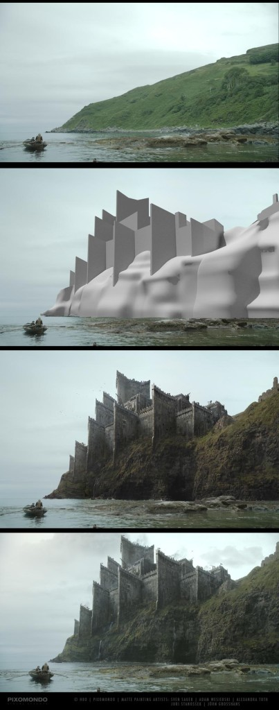 Matte painting castle example