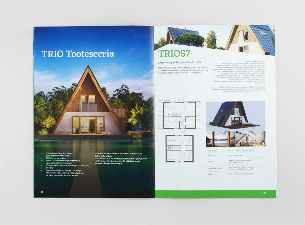actual booklet with 3D renders