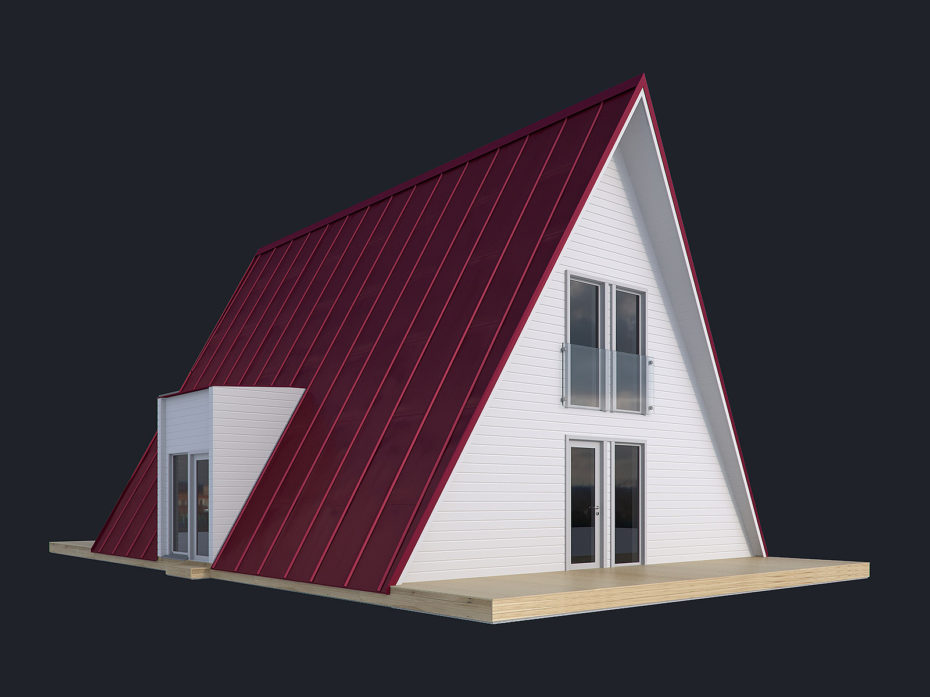 House model in colors by Faraday 3D
