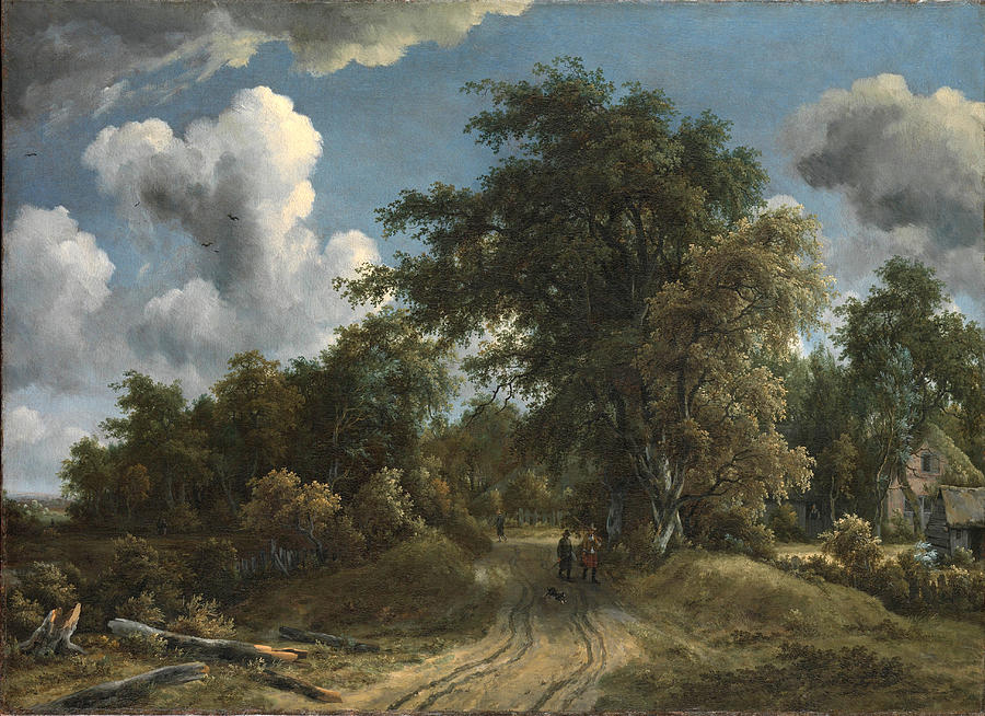 Woodland road. Author: Meindert Hobbema, 1670